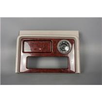 2003-06 Yukon Escalade Caddy Dash Trim Bezel with Clock, Storage, for CD Player