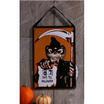 Grim Reaper Skeleton Halloween Countdown Calendar Wall Decor Prop