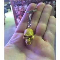 """1"""" Rubber Skull Skeleton Head Key Chain Ring"""