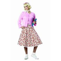 California Costumes Women's Retro 50's Sweetheart Adult Costume Size Small 6-8