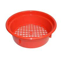 "Keene Engineering Economy Stackable Classifying Sieve Red 3/4"" Made in USA"