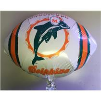 "Classic Miami Dolphins Football 18"" Foil Balloon"