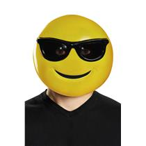 Sunglasses Smile Emoticon Emoji Adult Mask