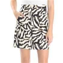 4 Ann Taylor Ivory/Black/Brown Animal Print Lined Pencil Skirt w/ Front Pockets