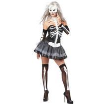 California Costumes Women's Skeleton Masquerade Sexy Adult Costume Large 10-12