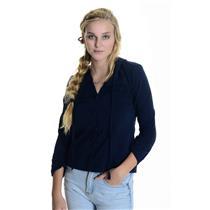 M C&C California Navy Button Front Cuffed Fleece Hoodie 100% Cotton 89SF0238
