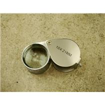 Jewlers 10X Metal Loupe Silver Metal Body Glass Lens 10X22MM