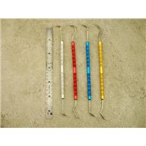 Set of 4 Colored Double Ended Pick Set, Hardware Use, Prospecting, Gold
