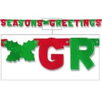 Beistle 1-Pack Foil Seasons Greetings Streamer 6 FT. Holiday Party Decoration