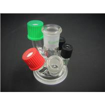 New/Open Box: Chemglass 6-Neck Reaction Vessel Lid Laboratory Glassware w/ Warranty