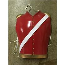 Cesar Plastic Toy Soldier Chest Piece Christmas Costume Accessory