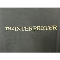 The Interpreter 2005 Drama Movie Memorabilia Blue Adult T-Shirt XL