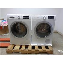 Bosch 500 Series Front Load Washer & Dryer + Stacking Kit SET White Image
