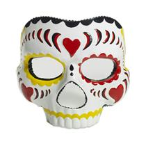Plastic Female Day of the Dead Face Mask