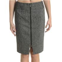 4 Banana Republic Gray Wool Blend Classic Cut Pencil Skirt w/ Exposed Back Zip