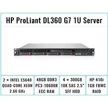 HP ProLiant DL360 G7 1U Server 2×Xeon Quad-Core 2.66GHz + 48GB RAM + 4×300GB SAS