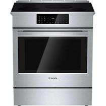 "Bosch 800 DLX 30"" 4 Induction Elements Convection SS Slide-In Range HII8055U"