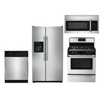 Frigidaire full kitchen package: Refrigerator, Dishwasher, Gas Range, Microwave