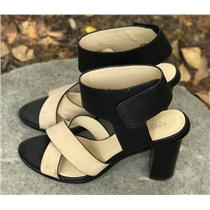 SIze 10 CHARLES by Charles David Jaunt Ankle Strap Heeled Sandals in Black/Nude