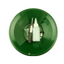 """1- 10"""" Green Gold Pan - 5"""" Snuffer Bottle - Magnet Tool - Funnel & 1"""" Vial"""