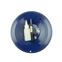 """1- 10"""" Blue Gold Pan - 5"""" Snuffer Bottle - Magnet Tool - Funnel & 1"""" Vial"""