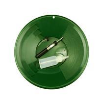 """1- 12"""" Green Gold Pan - 5"""" Snuffer Bottle - Magnet Tool - Funnel & 1"""" Vial"""