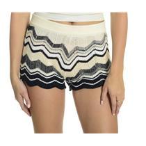 NEW S/M Goddis Multi Colored Zig Zag Striped Soft Knit Pull On 'Belle' Shorts