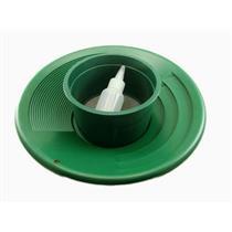 "12"" Green Gold Pan 5""  #10 Mesh Screen & Bottle Snuffer-Panning Kit-Prospecting"