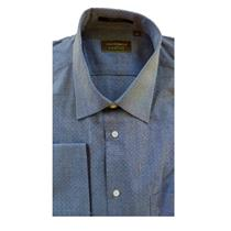 15.5 34/35 NWT Authentic Joseph Abboud Profile Men Navy Blue Pin Dot Dress Shirt