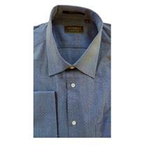 15.5 32/33 NWT Authentic Joseph Abboud Profile Men Navy Blue Pin Dot Dress Shirt