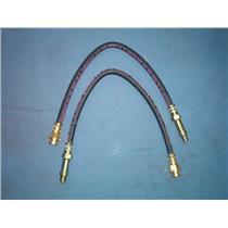 Brake hose set ( 2 hoses ) Chevrolet Corvette front 1963-1982 Made in USA