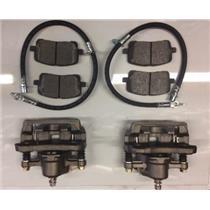 Toyota Corolla Brake kit Pontiac Vibe &  front 2003-2008 -pads, calipers & hoses