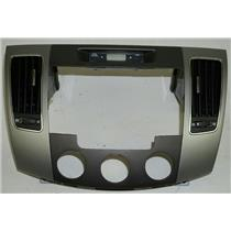 2009 2010 Hyundai Sonata Radio Climate Dash Trim Bezel with Vents and Clock