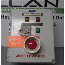 Edwards IQDP80/QMB500 Dry Pump Emergency Shut Off/Alarm Control  Box Assembly