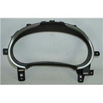 16-17 Chevrolet Malibu Speedometer Cluster Dash Bezel Panel Black w/ Silver Trim