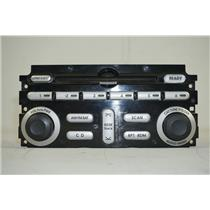 06-11 Mitsubishi Endeavor Radio Controls Panel Cover w/ 6 Disc Silver Trim