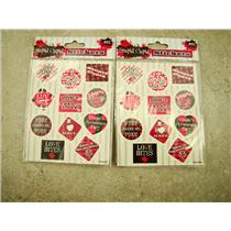 Set of 8 packs of Stupid Cupid Valentine's Day Stickers