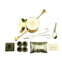 Propane Gas Fast Furnace Kit-Conical Mold, Kiln, Tips, 4-Crucibles, Tongs - Mini