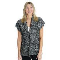 S NEW Pendleton Winter Getaway Cable Knit Sleeveless Sweater Vest Black/White