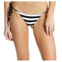 XS NEW Wildfox Couture Swim Dreamhouse Stripe String Bikini Bottoms Black/White