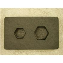 1 oz & 1/2 oz Gold Bar High Denisty Graphite Hexagon Mold Combo Copper USA made