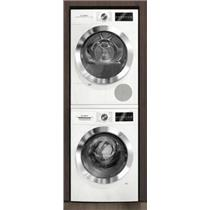 Bosch 800 Series White Interior Light Washer & Dryer Set WAT28402UC / WTG86402UC