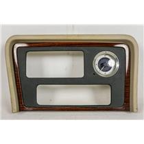 2002-2006 Cadillac Escalade Radio Dash Trim Bezel with Clock Beige Trim