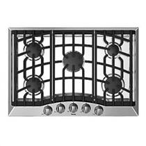 "Viking 30"" Stainless Electric Spark 5 Sealed Burners Gas Cooktop RVGC33015BSS"