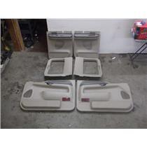 1999 - 03 FORD LARIAT F250 F350 EXTENDED CAB DOOR PANELS ( 4 ) TAN XLT - OEM