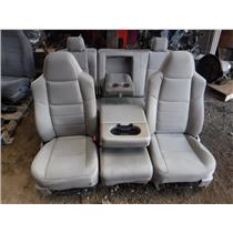 2008 - 2010 FORD F250 F350 XLT XL CREW CAB GREY CLOTH SEATS ( STONE ) OEM