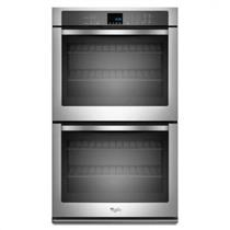 "Whirlpool 30"" 5.0 Cu. Ft AccuBake Stainless Double Electric Wall Oven WOD51EC0AS"