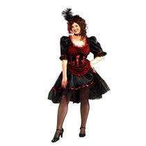 Red Western Saloon Girl Plus Size Adult Costume