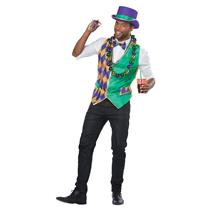 Mardi Gras Vest Kit Adult Costume Small/Medium 38-42