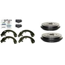 Brake Drums Shoes Spring Kit Wheel Cylinder Fits 2002 Jeep Liberty  REAR